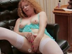 Horny redhead loves to masturbate whne she is alone