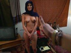 Arab arabic grandma first time Took a