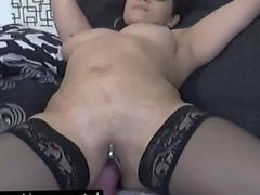 Horny Slut Drills Her Asshole And Pussy On