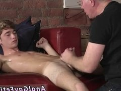 Hairy young men wanking each other off and