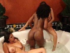 Lesbian Interracial Threesome