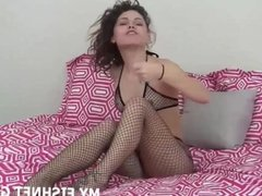 I want to tease you with my sexy little fishnets Joi