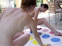 Lesbian friends play outdoor