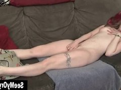 Tattooed Ela Orgasming On The Couch