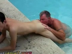 Anal with mature gay porn boy stock photo