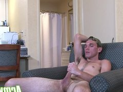 Hot and cute Joshua Kelly jerking and stroking his fat cock