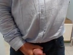 DAD SHOWING HIS COCK IN OFFICE