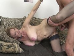 Hot mature sex with dirty mom and son