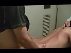 Asian twink in the men's room