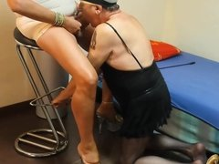 sucking my crossdresser cock - part two