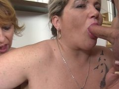 Mature mothers sharing one lucky son s cock