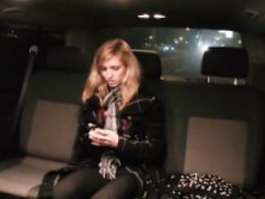 Fucked In Traffic - Pretty Czech blondie bangs in the backseat of the car