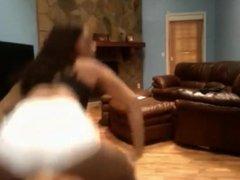 Sharon twerking & spreading asshole on youtube