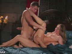 Carter Cruise enjoys wild anal threesome