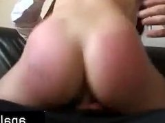 rowdy uk sub disciplined with a rough fuck and a cock down he
