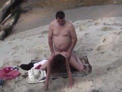 Bear fucks his wife on the beach