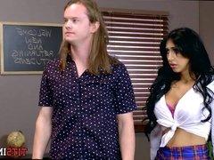 Big Tits in School