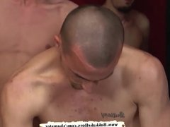 Twink is on his knees getting fucked and cum covered - Bukka