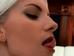 Facial Blast on a blonde whore