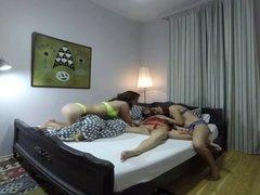 FULL Vercion  Sleeping girl gets groped by horny lesbians