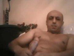 Bald smooth daddy wanking