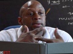 Black Teacher Sucked Off under His desk