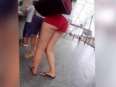 Short shorts nice ass