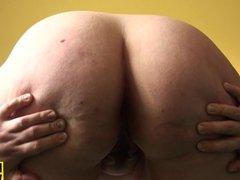 Squirting sub slut toying her drippy vagina