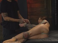 Sexy Babe Getting Hard Fucked While Tied Up
