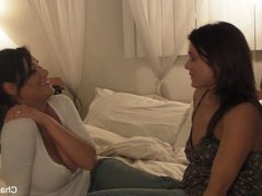 Amateur threesome with Charley, CeCe, and Johnny