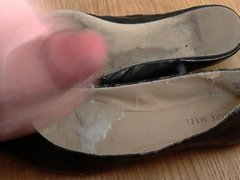Stinky and Soft Leather Flats Cum