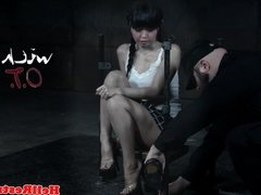 Submissive Marica Hase tormented with objects