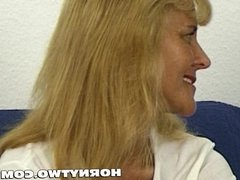 Two horny older people fucking around and slim old granny