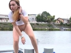 teen piss by the river