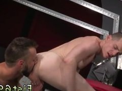 Xxx gay boy fist Aiden Woods is on his back