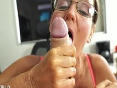 Naughty milf sucking a cock
