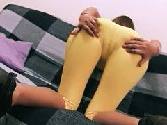 Huge Ass Latina Has Big Cameltoe And Big Tits. Tight Spandex