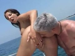 Anal sex in boat