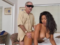 Busty Ebony Jenna J. Foxx  Fucks Old Men