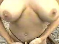 big titted slut by the train tracks