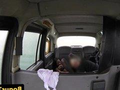 Taxi ebony spunked on face after deepthroat