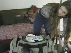 Jennifer Avalon - Dress Up & Lesbian on Couch