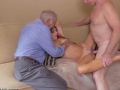 Gay old men and gay young boys pissing cum