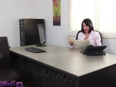 Busty MILF gets ravaged in the office