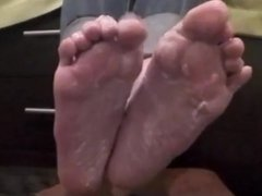 Nana playing with her creamy (size 40) feet