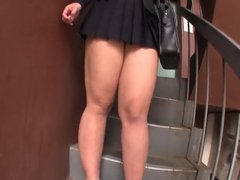 Japanese bbw schoolgirl mini skirt