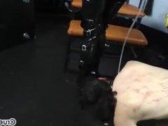 Canine Slave Worships Isobel's Shiny Leather Boots!