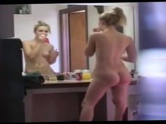 Blonde babe in the hidden cam bathroom