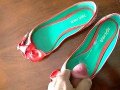 Cum in my new peep toe ballet flats