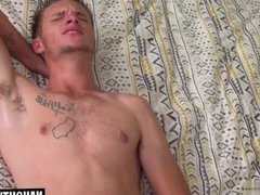 Hot gay flip flop and cum eating